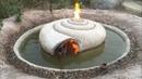 Unbelievable! Build Swimming Pool Around Secrete Underground Snail House