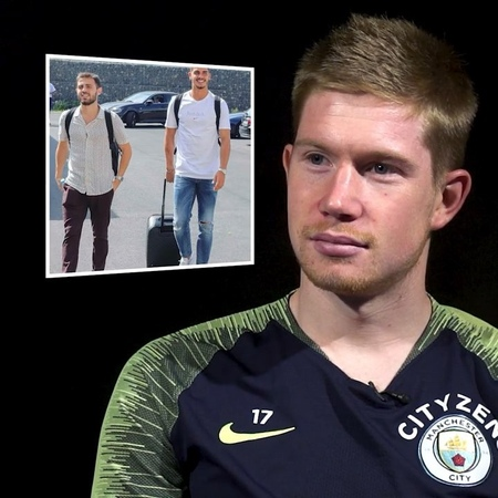 """Manchester City on Instagram """"Seen as it's NYFW we thought we'd ask @kevindebruyne to rate his teammate's fashion sense!"""""""