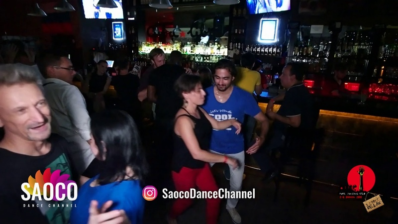 Grzegorz Caban, Tomas Münür Tenekeci and Mariya Krohina Salsa Dancing at The Third Front, 06.08.18