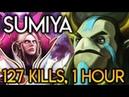 Sumiya Invoker God 127 KILLS and 1h Intense Game vs Pro Player NP Dota 2