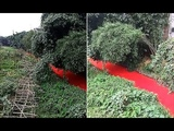 Clevver news TV - Residents are shocked to see their river has turned BRIGHT RED