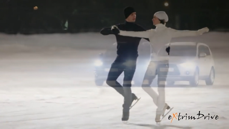 Клуб Экстрим Драйв.Танец машин и фигуристов на льду. Қайрат Нұртас.Жүрегіңнен бір орын бер.