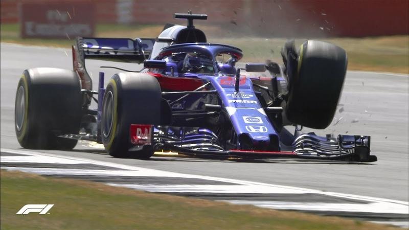 Авария Брендона Хартли в третьей тренировке Гран-при Великобритании-2018