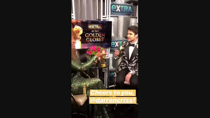 Darren Criss at EXTRA