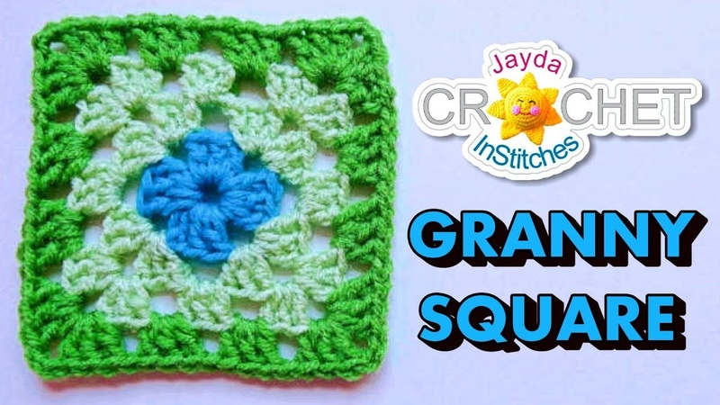 How To Crochet a Granny Square - Beginners Tutorial Basic Pattern
