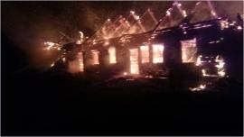 В Пено сгорел дом