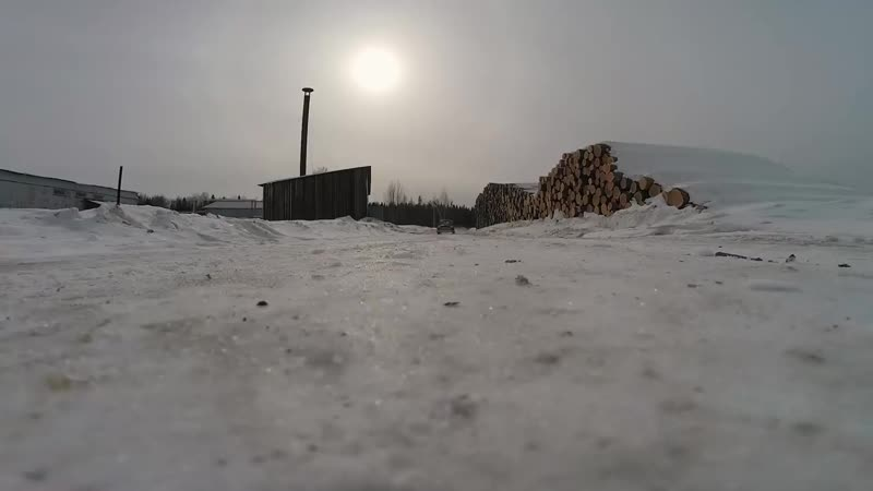 Зимняя Джимхана _ Winter Gymkhana Russia _ Газ М20 Победа 550 л.с. на гусеницах