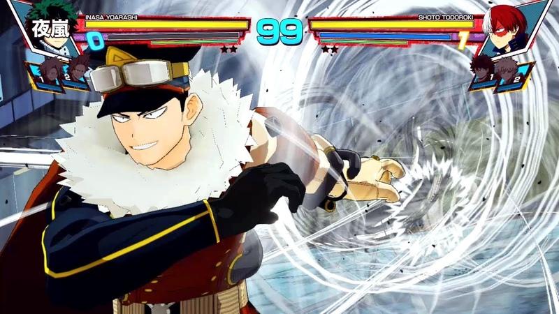 My Hero Academia One's Justice Inasa Yoarashi DLC Gameplay 1080p 60fps