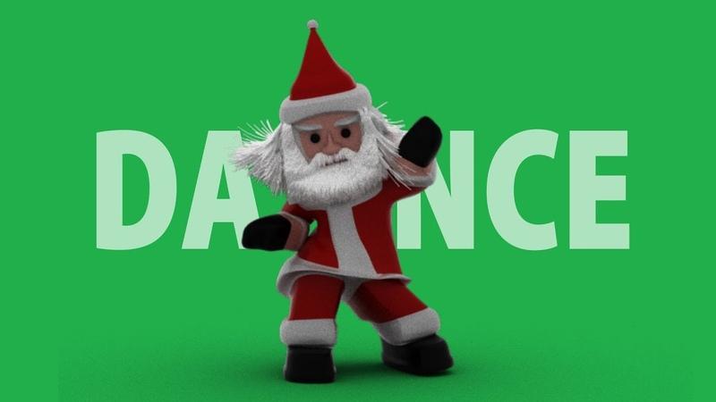 Santa claus dancing green screen video