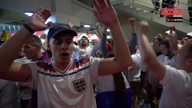 England Fans Refuse To Go Home As They Celebrate At The Spartak Stadium |Colombia 3-4 England (Pens)