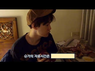 LOOK AT YOONGI EATING LOTS AND THEN HE JUST GIGGLES, never squealed so hard in my life