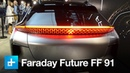Faraday Future's 1050hp FF 91 EV wows the crowd at CES 2017