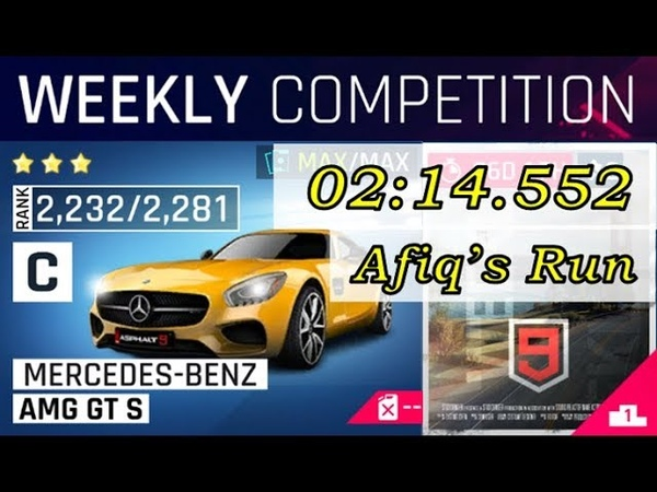 The City By the Bay/AMG GT S [02:14.552] Asphalt 9 Weekly Competition-