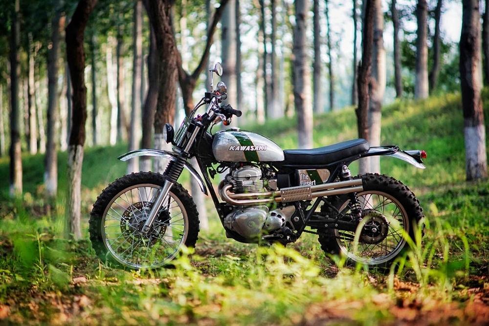Mandrill Garage: скрэмблер Kawasaki W800