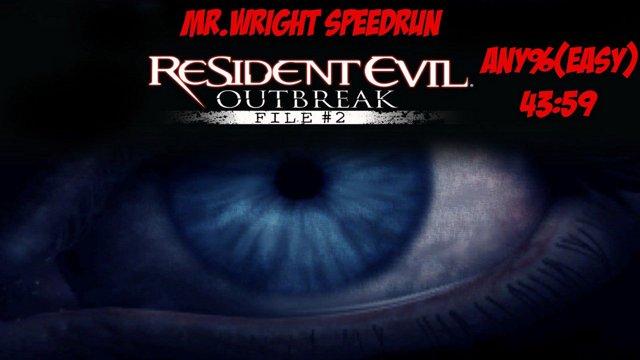 Resident Evil Outbreak File 2 - Any Speedrun - 4359 [Easy]