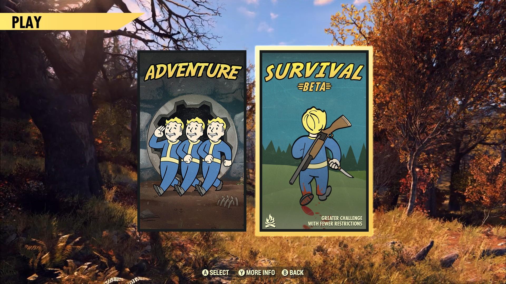 Bethesda переосмыслила механику PVP в Fallout 76 и решила порадовать оставшихся игроков новым игровым режимом «Выживание», который будет альтернативой стандартному режиму «Приключение».