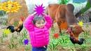 Trò chơi cho bò ăn cỏ ❤ bạch vân cho bò ăn cỏ khô ❤ bachvantv-Nurseryki