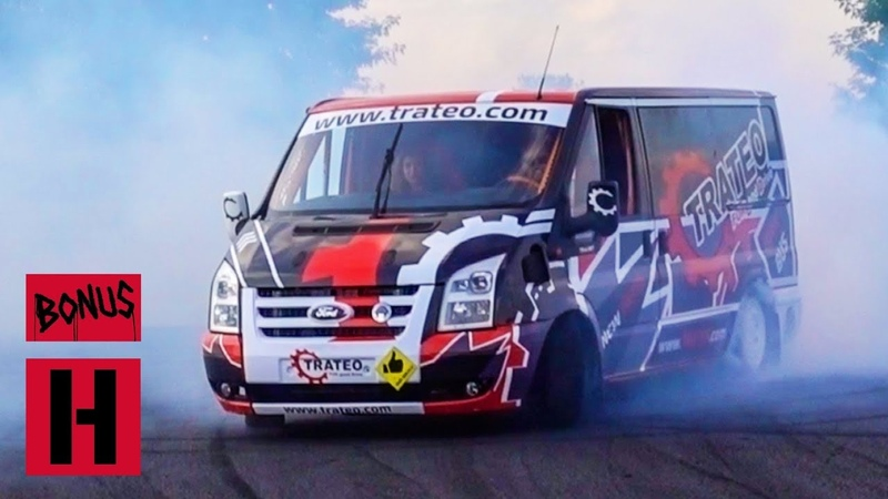 V8 Ford Transit Drift Bus! Hert and Dan Go For Test Shred