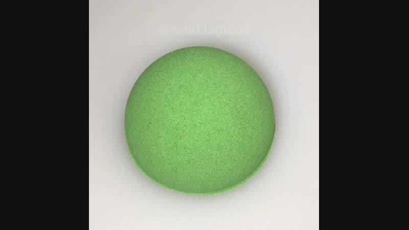 Зелёный кинетический песок