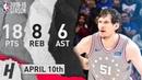 Boban Marjanovic Full Highlights 76ers vs Bulls 2019 04 10 18 Pts 8 Reb 6 Ast