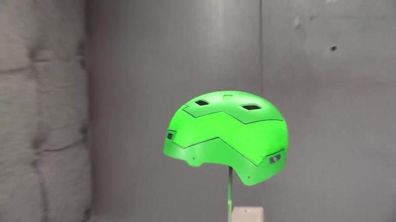 LumiLor - электро люминофор велосипедный шлем.