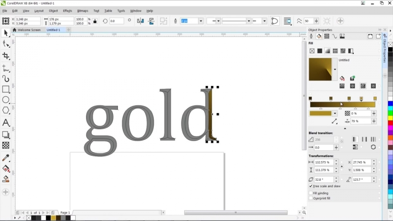 CorelDraw - How To Make a Gold Text Effect in Corel Draw