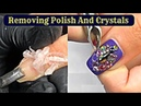 Removing Gel Polish And Hard Crystals From Nails💎 Nails Cleaning Manicure 💍