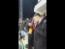 A distinguished visitor during the world cup contest Germany - Mexico