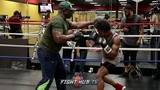 SHAWN PORTER DRILLING HEAD MOVEMENT AND COMBINATIONS TO PREPARE FOR DANNY GARCIA'S COUNTER PUNCHING shawn porter drilling head m