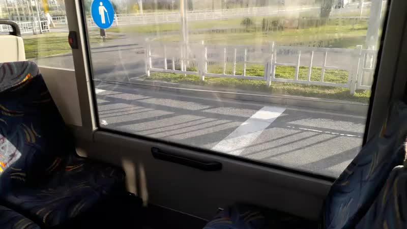Аквариум в стекле автобуса