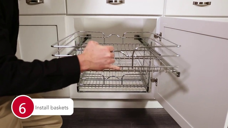 5WB2 Chrome Pull-Out Baskets For Your Kitchen Cabinet Installation | KitchenSource.com
