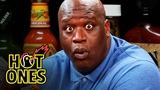 Shaq Tries to Not Make a Face While Eating Spicy Wings Hot Ones