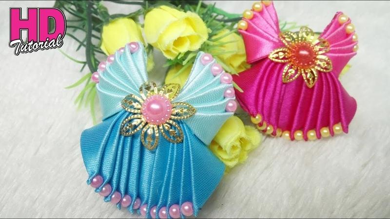 DIY - Bros Gaun Bidadari    Handmade Dress    Kanzashi    HD TUTORIAL