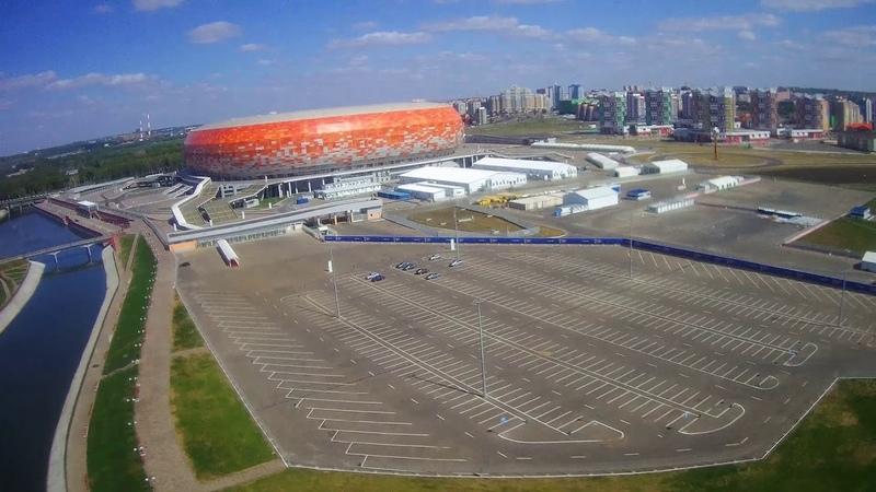 Hubsan H501SS.19082018.Мордовия.Саранск. Набережная р. Инсар, рядом со стадионом Мордовия Арена.