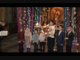 Рождество́ Твое́, Христе́ Бо́же наш,/ возсия́ ми́рови свет ра́зума, / в нем бо звезда́м служа́щии,/ звездо́ю уча́хуся,/ Тебе кла
