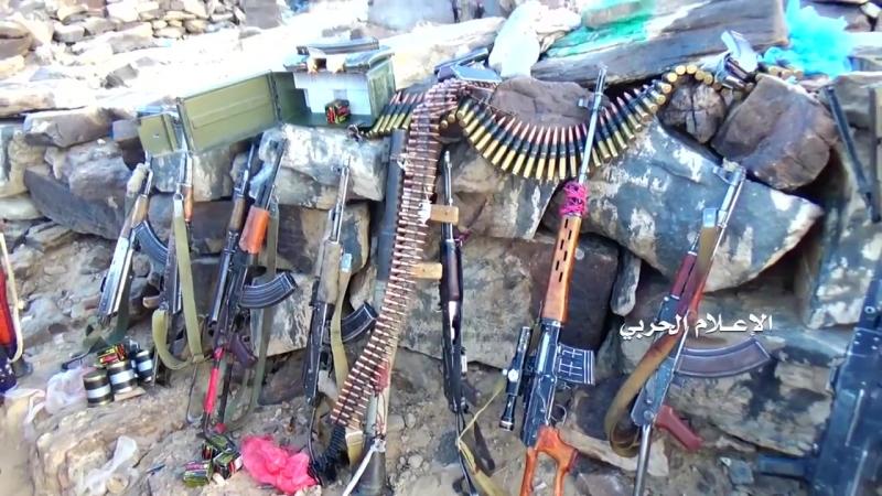 Атака хуситов на позиции армии Хади в районе Ната, провинция Эль-Бейда.