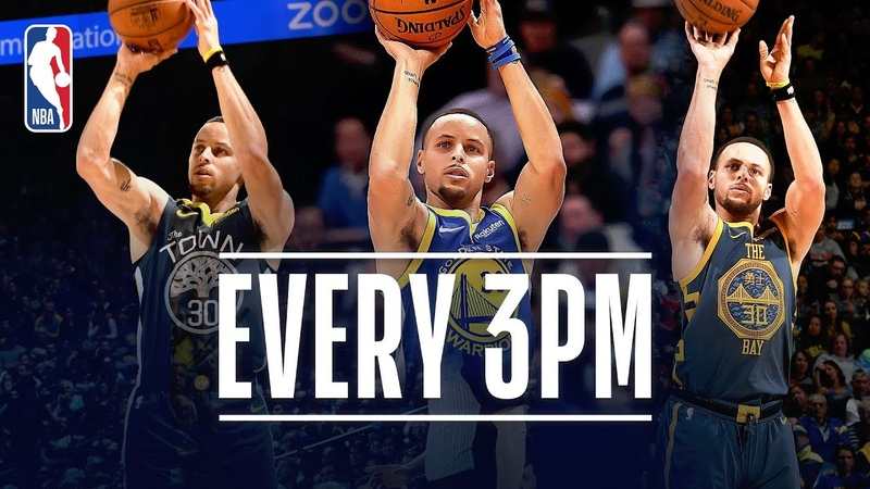 Steph Curry Makes 3-Point HISTORY NBANews NBA Warriors StephenCurry