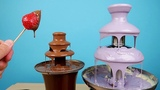 Фонтан из Фиолетового Шоколада с Клубникой! Тестирую шоклад Mr. Cho! alex boyko
