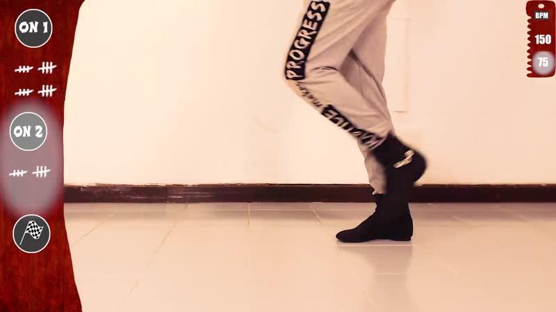 👟 Salsa Footwork Tutorial ★Beginners★ CROSS ᴮ 2 ★ On1 On2 (♫) _ MBCfootwork