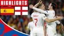 Spain 2-3 England | Stunning First Half Leads to Historic Win! | Official Highlights
