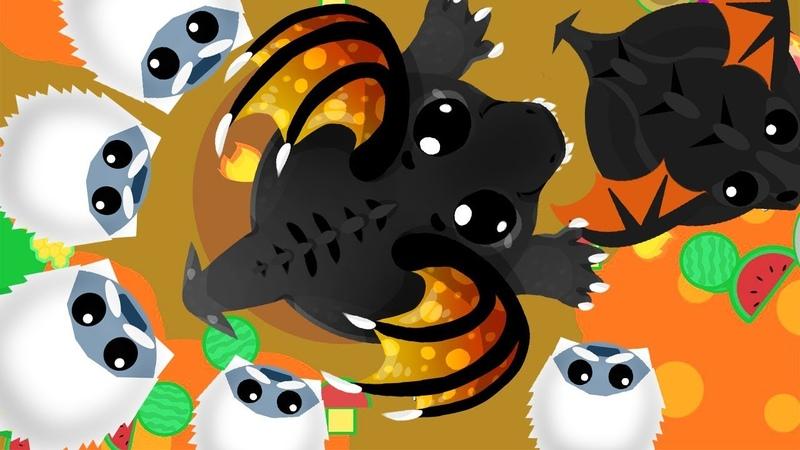 Сходка за клан в игре Мопио! Схватка Йети против Черного Дракона 2 Моуп ио   Mope io