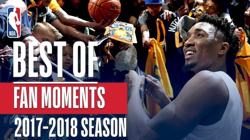 Лучшие моменты взаимодействия между игроками НБА и фанатами в сезоне 2017/18