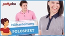 Poloshirts für Damen Männer nähen Anleitung für Kragen Knopfleiste und Schlitze