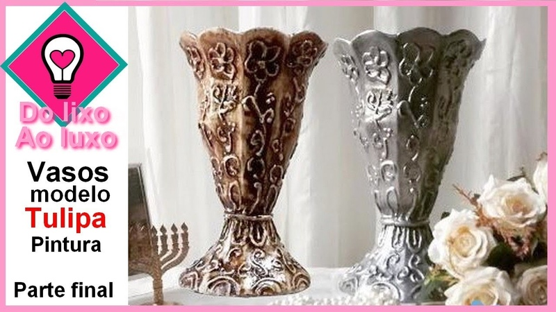 Vaso de caixa de leite modelo Tulipa aprenda como Pintar