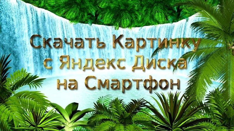 Скачать Картинку с Яндекс Диска на Смартфон