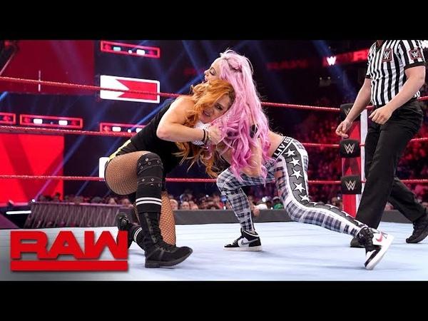 Becky Lynch vs Liv Morgan Beat the Clock Challenge Match Raw March 25 2019
