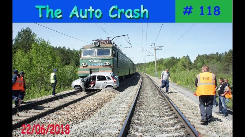 Опасный Железно дорожный переезд подборка аварий от TheAutoCrash