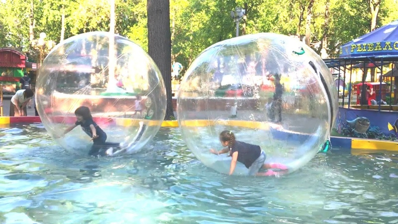 Lunapark maceraları. Gidrozorb – koca balon içinde oyun oynadık