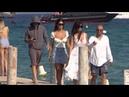 EXCLUSIVE Ludicrous Leonardo Di Caprio arrives at Club 55 with girlfriend Camila Morrone