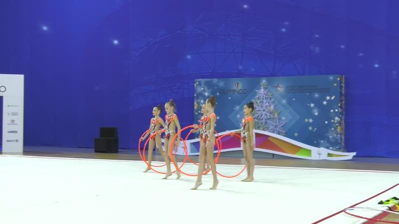 Групповые упражнения с обручами сборной команды Крым 2 Первенство ЮФО